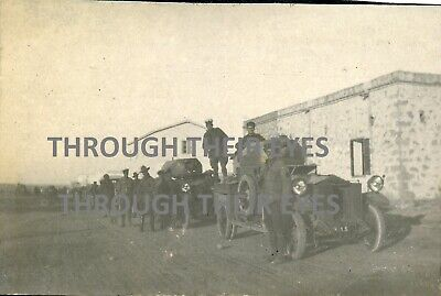 2 Original WW1 Photos RNAS  Rolls Royce Armoured Car Mersa Matruh 1915 WWI • 95£