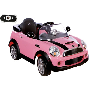 £199.99 • Buy Pink Electric Ride On Mini Cooper 6V Electric With Remote Control, LED Lights