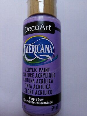 Purple Cow Americana Acrylic Paint By DecoArt Size 59ml 2fl.oz For Craft • 2.95£