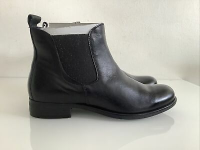 £24.99 • Buy Chloe St Clair Black Leather Chelsea Boots Ankle Boots Size 5