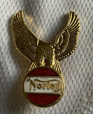 Norton Motorcycle Enamel Badge With Winged Eagle Dominator Commando Manx • 2.10£