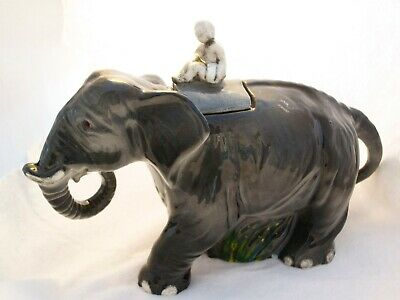 Vintage Ceramic Elephant Tea Pot Stunning Large Collectable Teapot Great Conditi • 25£