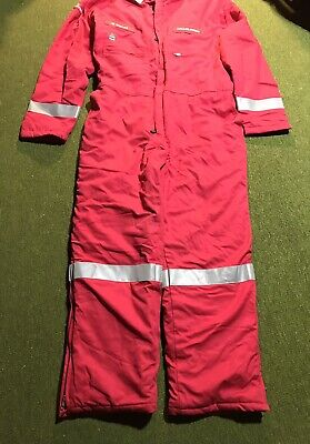$109.88 • Buy New! Halliburton Wenaas Men's Size XXL Coverall Insulated AntiFlame Red US Flag