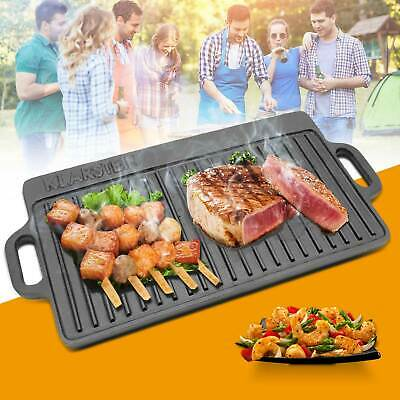 £18.99 • Buy Non Stick Reversible Cast Iron Griddle Plate Grill Fry Pan BBQ Hob 50x23cm