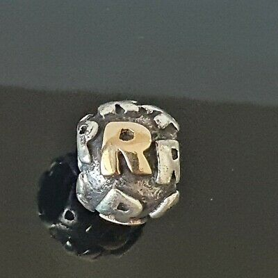AU130 • Buy Pandora Alphabet Letter R Two Tone Initial Silver Gold Charm 790298 R Free Post