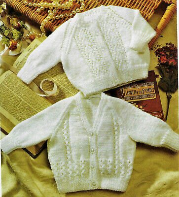 £2.79 • Buy Baby Knitting Pattern For Easy Knit Cardigans In DK To Fit 6months- 5years  B85