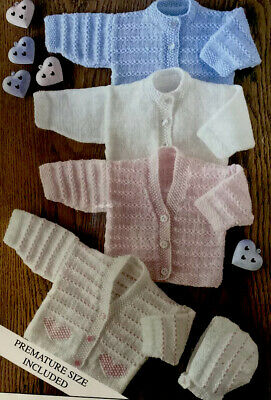 """£2.79 • Buy Beautiful Easy Knit Baby Knitting Pattern For Cardigans 14-22"""" E3"""