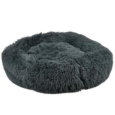 Long Soft Plush Calming Dog Bed Self-Warming Fluffy Plush Anti Anxiety Donut Bed • 14.99£