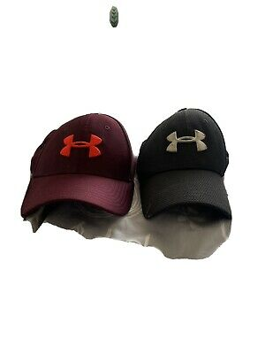Under Armour Men's Baseball Cap.Hat Black  Med/LGE Stretch Fit And  Red Lg/XL • 6£