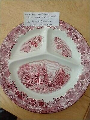 Woods Ware Enoch Woods English Scenery Divided Dinner Plate • 9.99£