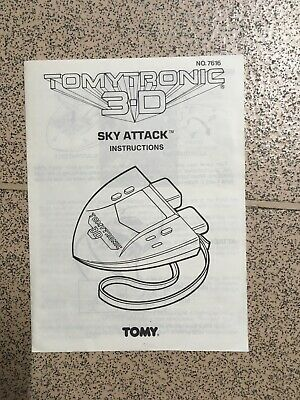 Tomy Tronic 3-D Sky Attack Instructions Used • 12£