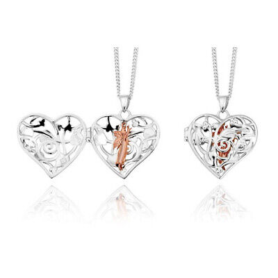 NEW Official Welsh Clogau Silver & Rose Gold SMALL Fairy Locket £70 Off! • 79£