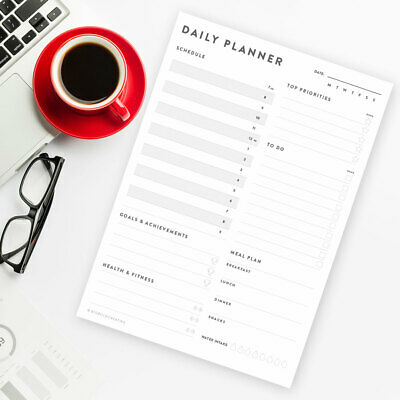 £4.99 • Buy Daily Planner Desk Organiser To Do List Schedule Meal Planner A4 Pad Or Sheets