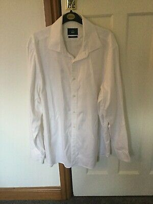 Moss Bros White Shirt, Tailored Fit, 16.5, WORN ONCE • 2.10£