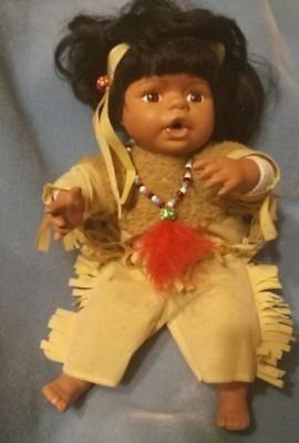 $ CDN19.14 • Buy Beautiful 12 Inch Porcelain And Cloth Indian Doll