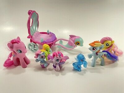 My Little Pony Ponyville Mermaid Dolphin Carriage Starsong Rainbow Dash Pinkie • 21.20£