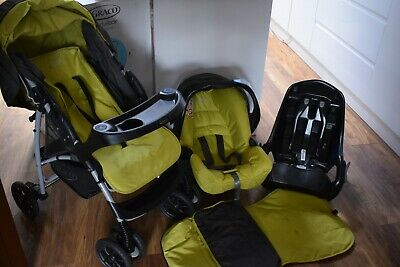 Graco Travel System, Pushchair, Car Seat And Base • 55£
