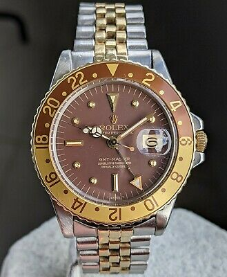 $ CDN19110.12 • Buy Rolex 1675 GMT Master - Nipple Dial, ROOTBEER, With Box, Booklets - 1972