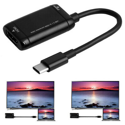 AU15.57 • Buy USB 3.1 Type C To HDMI Cable TV Adapter Smart Mobile Phone Monitor Projector AU