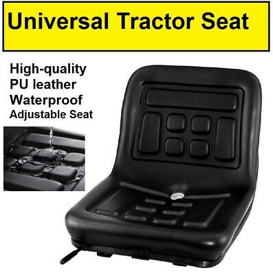 AU89.95 • Buy Tractor Seat Replacement Padded PU Leather Chair Excavator Mower Universal NEW