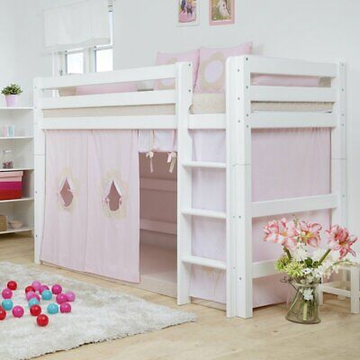 Hoppekids Children Cabin Bed Curtain In Fairytale Flower, Pink 107Hx90Wx200L Cm • 123.97£