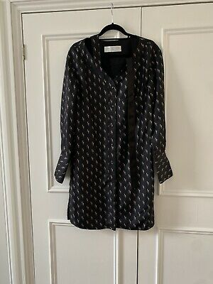 Victoria Victoria Beckham Sample Dress Shirt Dress Black Size 10uk Straight Fit  • 50£