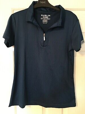 Dublin Ladies T Shirt,horse Riding, Zip Neck, Size Small, Teal In Colour, Unworn • 8£