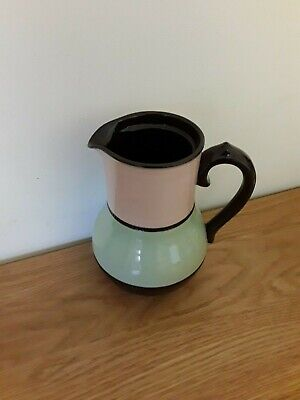 SADLER BETTY JUG Or COFFEE POT WITHOUT LID, BROWN/GREEN/PINK, VINTAGE & RARE ! • 0.99£