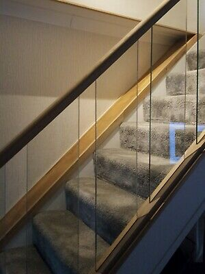 4 Glass 8mm Stair Panels  • 40£
