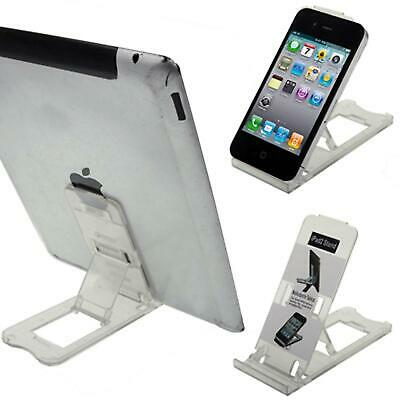 IPad Tablet IPhone Desk Stand Holder Mobile Phone Folding Portable Clear  • 2.99£