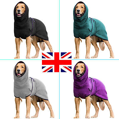 £12.19 • Buy Pet Clothes Dog Towelling Drying Robe Comfy Sleepwear Coat Puppy Warm Apparel UK