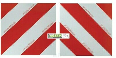 Farm Machinery Wide Load Reflective Warning Marker Boards 420x420mm Rake Tedders • 85£