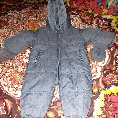Baby Snow Suit Age 3-6 Months Grey • 5£
