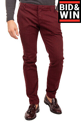 $ CDN1.72 • Buy RRP €125 MICHAEL COAL Chino Trousers Size 31 Patterned Slim Fit Made In Italy