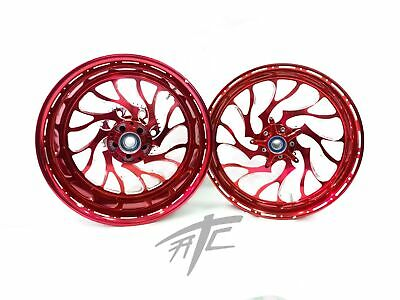 $2599.99 • Buy Gsxr 240 Fat Tire Candy Cherry Hellian Wheels 01-08 Suzuki Gsxr 1000
