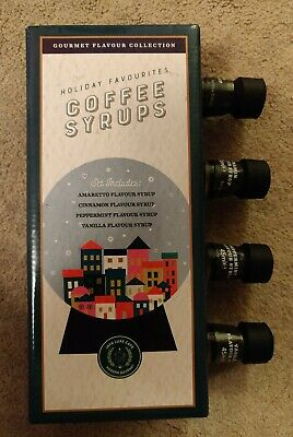 COFFEE SYRUPS - Gourmet 4pk Flavour Collection * * BRAND NEW * * • 2£