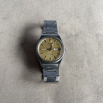 $ CDN112.97 • Buy 1985 Seiko Automatic Day Date Mens Stainless Steel 6309-8970 Watch Gold Dial