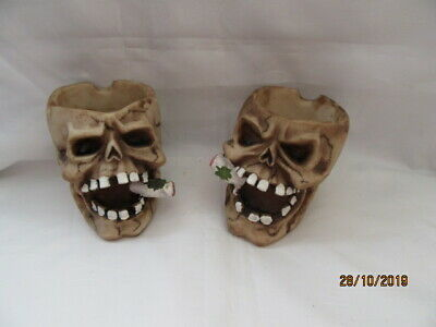 Weedos Two Assorted Skull Ashtray - Ornament / Figures • 2.99£