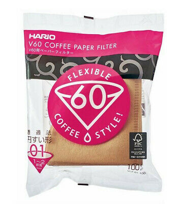 AU18.95 • Buy NEW HARIO V60 01 100 FILTER PAPER Dripper Coffee Cup Pour Over Cone Brewer