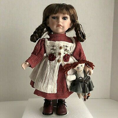 $ CDN20.34 • Buy Vintage Duck House Heirloom Dolls Porcelain Doll With Stand And Toy Doll 12 In