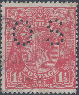 AU0.99 • Buy KGV 1½d Red OS With Large Flaw Below Neck