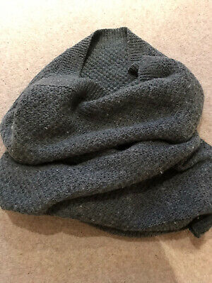 Gap Wool Snood Scarf Grey Knit Alpaca Mix • 2.80£