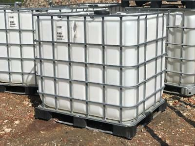 1000 Litre IBC Tank Container Water Diesel Fuel Oil Storage Allotment Farm Field • 50£