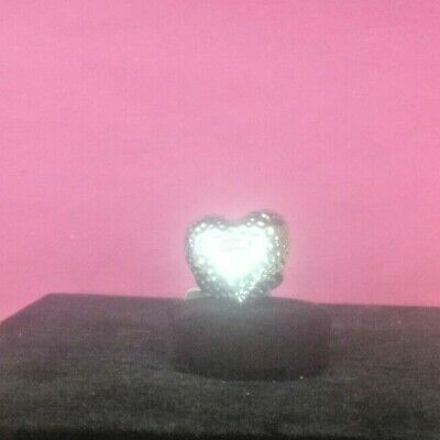 $ CDN16.35 • Buy VINTAGE LIA SOPHIA HAMMERED HEART SILVER TONE RING SIZE 8 Free Shipping