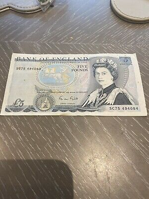 Old £5 Five Pound Bank Of England Bank Note Duke Of Wellington • 6.02£