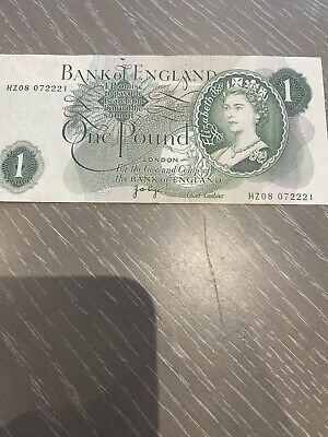 Old English One Pound £1 Note From 1962 / 1966  • 2.20£