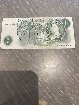 Old English One Pound £1 Note From 1962 / 1966  • 1£