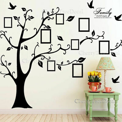 Huge Family Tree Wall Stickers Birds Photo Frames Art Decals Home Decor UKSeller • 7.99£