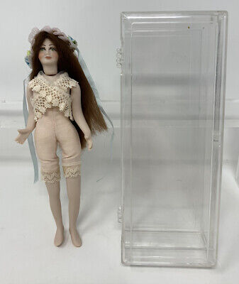 "$ CDN6.30 • Buy Vintage 6"" Bisque & Cloth Lady Dollhouse Artist Doll"