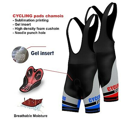 AU44.99 • Buy Mens Cycling Bib Shorts Padding Cycle Shorts Bike Tights Active-wear FDX Coolmax